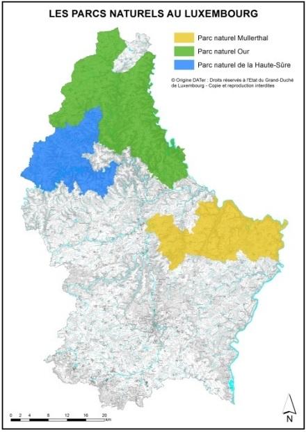 Carte des parcs naturels